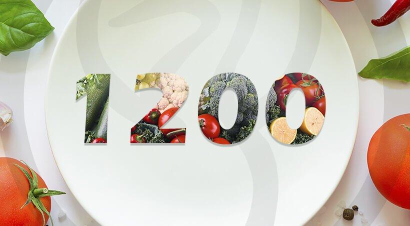 Imagem Dieta com 1200 Calorias