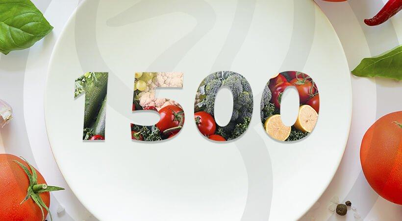 Imagem Dieta com 1500 Calorias