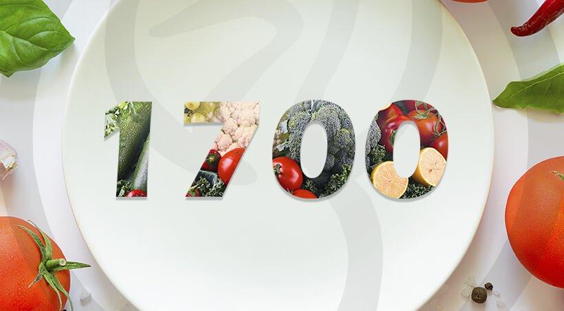 Imagem Dieta com 1700 Calorias