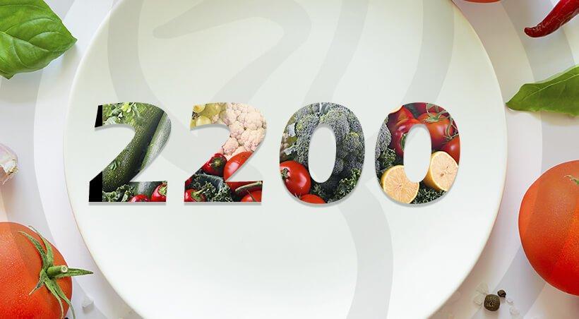 Imagem Dieta com 2200 Calorias